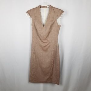 Reiss beige party or holiday Turner dress Size 4